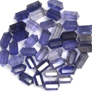 5 Pieces Natural Iolite Gemstone ,Faceted Double Point Pencil Shape Faceted Beads, Size 5×10 MM Iolite Pencil Making Blue Jewelry Wholesale | Natural genuine other-shape Iolite beads for beading and jewelry making.  #jewelry #beads #beadedjewelry #diyjewelry #jewelrymaking #beadstore #beading #affiliate #ad