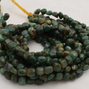 "Shop Jade Chip & Nugget Beads! High Quality Grade A Natural African Jade Semi-Precious Gemstone Tumbled Stone Nugget Pebble Beads – approx 5mm – 8mm – 15.5"" strand 