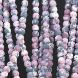 Matte Purple Rain Flower Jade Loose Beads Apple Shape 4mm | Natural genuine other-shape Gemstone beads for beading and jewelry making.  #jewelry #beads #beadedjewelry #diyjewelry #jewelrymaking #beadstore #beading #affiliate #ad