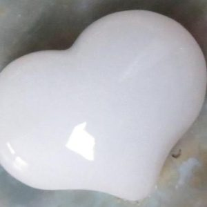 Shop Jade Shapes! White Jade Puffy Heart Pocket, Worry Healing Stone! | Natural genuine stones & crystals in various shapes & sizes. Buy raw cut, tumbled, or polished gemstones for making jewelry or crystal healing energy vibration raising reiki stones. #crystals #gemstones #crystalhealing #crystalsandgemstones #energyhealing #affiliate #ad