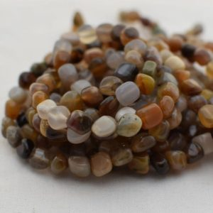 "Shop Jasper Chip & Nugget Beads! High Quality Grade A Natural Wood Jasper Semi-Precious Gemstone Tumbled Stone Nugget Pebble Beads – approx 5mm – 8mm – 15.5"" strand 