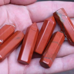 Shop Jasper Points & Wands! Red Jasper Small Wrappable Obelisk J40 | Natural genuine stones & crystals in various shapes & sizes. Buy raw cut, tumbled, or polished gemstones for making jewelry or crystal healing energy vibration raising reiki stones. #crystals #gemstones #crystalhealing #crystalsandgemstones #energyhealing #affiliate #ad