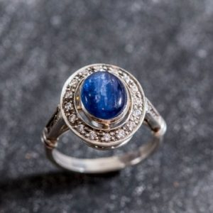 Shop Kyanite Rings! Real Kyanite Ring, Blue Kyanite Ring, Natural Kyanite, Vintage Rings, Blue Ring, African Kyanite, Natural Stone, Solid Silver Ring, Kyanite | Natural genuine Kyanite rings, simple unique handcrafted gemstone rings. #rings #jewelry #shopping #gift #handmade #fashion #style #affiliate #ad
