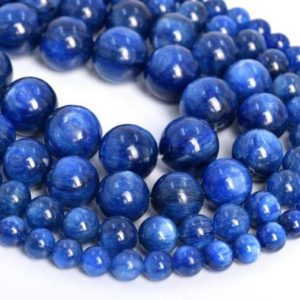 Genuine Natural Kyanite Loose Beads South Africa Grade AAA Round Shape 6mm 7mm 8mm 9mm 10mm 11mm 12mm | Natural genuine round Gemstone beads for beading and jewelry making.  #jewelry #beads #beadedjewelry #diyjewelry #jewelrymaking #beadstore #beading #affiliate #ad