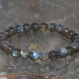 Shop Labradorite Bracelets! MADAGASCAR LABRADORITE Stretch Bracelet. Stacking Bracelet. Stress Relief. Gift for Her. Balance Bracelet.Protective Bracelet.7mm Wrist Mala | Natural genuine Labradorite bracelets. Buy crystal jewelry, handmade handcrafted artisan jewelry for women.  Unique handmade gift ideas. #jewelry #beadedbracelets #beadedjewelry #gift #shopping #handmadejewelry #fashion #style #product #bracelets #affiliate #ad