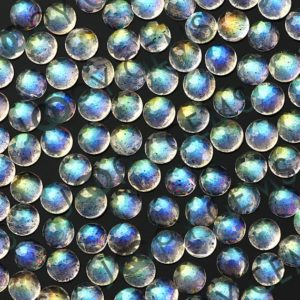 Shop Labradorite Cabochons! Labradorite Rose Cut Cabochon 3mm Round – per stone | Natural genuine stones & crystals in various shapes & sizes. Buy raw cut, tumbled, or polished gemstones for making jewelry or crystal healing energy vibration raising reiki stones. #crystals #gemstones #crystalhealing #crystalsandgemstones #energyhealing #affiliate #ad