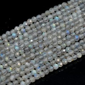 Shop Labradorite Faceted Beads! Genuine Natural Light Gray Labradorite Loose Beads Madagascar Grade AAA Faceted Round Shape 2mm 3mm 4mm | Natural genuine faceted Labradorite beads for beading and jewelry making.  #jewelry #beads #beadedjewelry #diyjewelry #jewelrymaking #beadstore #beading #affiliate #ad