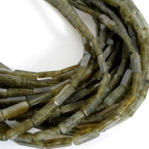 Shop Labradorite Bead Shapes! 13mm Square Tube Labradorite Beads, Genuine Gemstone Beads, Square Tube Beads, Full Strand, 16 Inch Strand Labradorite, Lab203 | Natural genuine other-shape Labradorite beads for beading and jewelry making.  #jewelry #beads #beadedjewelry #diyjewelry #jewelrymaking #beadstore #beading #affiliate #ad