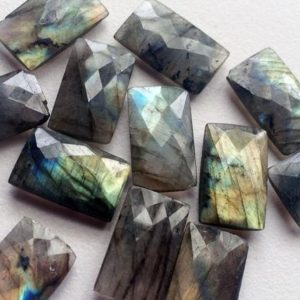 Shop Labradorite Bead Shapes! 13x22mm Labradorite Rectangle Lot, Labradorite Both Side Faceted Stone, Loose Labradorite Gemstone For Jewelry 1 Pc – KS90 | Natural genuine other-shape Labradorite beads for beading and jewelry making.  #jewelry #beads #beadedjewelry #diyjewelry #jewelrymaking #beadstore #beading #affiliate #ad