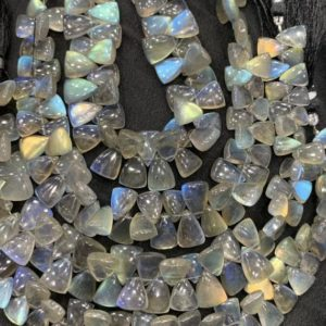 Shop Labradorite Bead Shapes! 8 inchLabradorite triangle shape side drilled beads,8/10-9/12mm,new,labradorite fancy cut beads | Natural genuine other-shape Labradorite beads for beading and jewelry making.  #jewelry #beads #beadedjewelry #diyjewelry #jewelrymaking #beadstore #beading #affiliate #ad