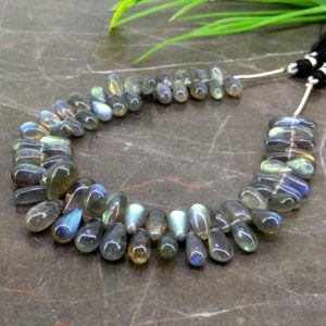 Shop Labradorite Bead Shapes! Natural Labradorite 9-13mm Smooth Drops Shape Gemstone Beads / Approx. 68 Pieces on 8 Inch Long Strand / JBC-ET-157215 | Natural genuine other-shape Labradorite beads for beading and jewelry making.  #jewelry #beads #beadedjewelry #diyjewelry #jewelrymaking #beadstore #beading #affiliate #ad
