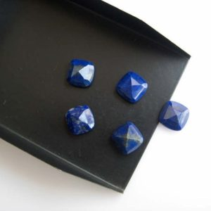 Shop Lapis Lazuli Cabochons! 10 Pieces 10x10mm Each Cushion Shaped Natural Lapis Lazuli Cabochon, Blue Lapis Lazuli Faceted Flat Back Gemstones Cabochon, BB76 | Natural genuine stones & crystals in various shapes & sizes. Buy raw cut, tumbled, or polished gemstones for making jewelry or crystal healing energy vibration raising reiki stones. #crystals #gemstones #crystalhealing #crystalsandgemstones #energyhealing #affiliate #ad