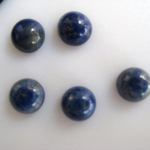 Shop Lapis Lazuli Cabochons! 5 Pieces 14mm Each Round Shaped Natural Lapis Lazuli Cabochon, Blue Lapis Lazuli Smooth Flat Back Gemstones Cabochon, BB77 | Natural genuine stones & crystals in various shapes & sizes. Buy raw cut, tumbled, or polished gemstones for making jewelry or crystal healing energy vibration raising reiki stones. #crystals #gemstones #crystalhealing #crystalsandgemstones #energyhealing #affiliate #ad