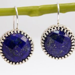 Shop Lapis Lazuli Earrings! Lapis earrings,September birthstone earrings,navy blue earrings,dangle earrings,statement earrings,gemstone earrings | Natural genuine Lapis Lazuli earrings. Buy crystal jewelry, handmade handcrafted artisan jewelry for women.  Unique handmade gift ideas. #jewelry #beadedearrings #beadedjewelry #gift #shopping #handmadejewelry #fashion #style #product #earrings #affiliate #ad
