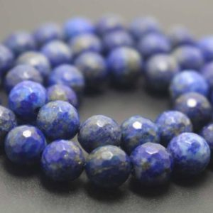 Shop Lapis Lazuli Faceted Beads! Natural 128 Faceted Lapis Lazuli Round Beads,6mm/8mm/10mm/12mm Gemstone Beads Supply,15 inches one starand | Natural genuine faceted Lapis Lazuli beads for beading and jewelry making.  #jewelry #beads #beadedjewelry #diyjewelry #jewelrymaking #beadstore #beading #affiliate #ad