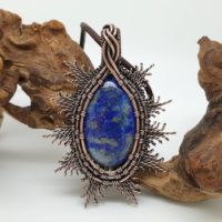 Lapis Lazuli Pendant, Wire Wrapped Necklace, Blue Stone Jewellery | Natural genuine Gemstone jewelry. Buy crystal jewelry, handmade handcrafted artisan jewelry for women.  Unique handmade gift ideas. #jewelry #beadedjewelry #beadedjewelry #gift #shopping #handmadejewelry #fashion #style #product #jewelry #affiliate #ad
