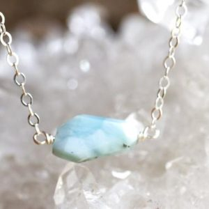 Shop Larimar Necklaces! Larimar Bar Necklace – Larimar Jewelry – Blue Stone Necklace – Mermaid Necklace – Atlantic Stone – Dolphin Stone – Gemstone Necklace | Natural genuine Larimar necklaces. Buy crystal jewelry, handmade handcrafted artisan jewelry for women.  Unique handmade gift ideas. #jewelry #beadednecklaces #beadedjewelry #gift #shopping #handmadejewelry #fashion #style #product #necklaces #affiliate #ad