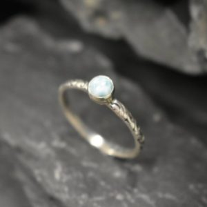 Shop Larimar Rings! Larimar Ring, Natural Larimar, March Birthstone, Blue Solitaire Ring, Blue Vintage Ring, Jewel Of Atlantis, Promise Ring, Solid Silver Ring | Natural genuine Larimar rings, simple unique handcrafted gemstone rings. #rings #jewelry #shopping #gift #handmade #fashion #style #affiliate #ad