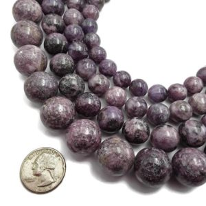 "Shop Lepidolite Beads! Lepidolite Smooth Round Beads 12mm 14mm 16mm 20mm 15.5"" Strand 