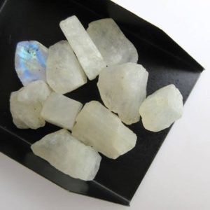 Shop Moonstone Chip & Nugget Beads! 10 Pieces 10mm to 24mm Raw Rough Loose Natural Rainbow Moonstone Gemstones,  Rainbow Moonstone Cabochons Loose Gem Stone Jewelry, BB483 | Natural genuine chip Moonstone beads for beading and jewelry making.  #jewelry #beads #beadedjewelry #diyjewelry #jewelrymaking #beadstore #beading #affiliate #ad