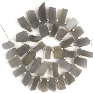 Shop Moonstone Chip & Nugget Beads! AAA Quality 1 Strand Natural Grey Moonstone Rough,Side Drilled,Gemstone Moonstone,7×16-10×30 MM,Grey Moonstone Raw,Natural Grey Moonstone | Natural genuine chip Moonstone beads for beading and jewelry making.  #jewelry #beads #beadedjewelry #diyjewelry #jewelrymaking #beadstore #beading #affiliate #ad
