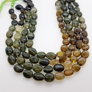 Shop Green Tourmaline Beads! Natural Green Tourmaline Beads, smooth Oval Beads, AAA Quality, 14 Inches, Wholesale Beads, Handmade, Handcrafted, 100% Genuine Gemstones | Natural genuine other-shape Green Tourmaline beads for beading and jewelry making.  #jewelry #beads #beadedjewelry #diyjewelry #jewelrymaking #beadstore #beading #affiliate #ad