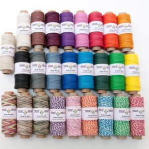 Shop Hemp Twine! NATURAL HEMP TWINE – Package of 16 True Hemp Spools – 1mm 20lb – 205feet/ 62m – 50gram per spool –  Choose Your 16 Colors | Shop jewelry making and beading supplies, tools & findings for DIY jewelry making and crafts. #jewelrymaking #diyjewelry #jewelrycrafts #jewelrysupplies #beading #affiliate #ad