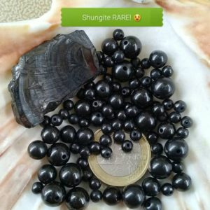 Shop Shungite Beads! Natural stone beads from SHUNGITE for bracelet, rare custom made round bead smooth real semi precious stone, 4 6 & 8mm | Natural genuine round Shungite beads for beading and jewelry making.  #jewelry #beads #beadedjewelry #diyjewelry #jewelrymaking #beadstore #beading #affiliate #ad