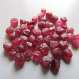 Shop Raw & Rough Ruby Stones! Natural Untreated raw mozambique ruby beads-Undrilled Ruby- Unpolished ruby-Unfaceted ruby-Raw ruby beads- Lot Code-R52,R53,R54,R97,R98 | Natural genuine stones & crystals in various shapes & sizes. Buy raw cut, tumbled, or polished gemstones for making jewelry or crystal healing energy vibration raising reiki stones. #crystals #gemstones #crystalhealing #crystalsandgemstones #energyhealing #affiliate #ad
