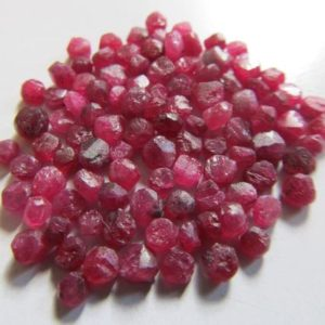 Shop Raw & Rough Ruby Stones! Natural Untreated raw mozambique ruby beads-Undrilled Ruby- Unpolished ruby- Unfaceted ruby-Raw ruby beads- Lot Code-U6, U7 ,U8, U9, U10 | Natural genuine stones & crystals in various shapes & sizes. Buy raw cut, tumbled, or polished gemstones for making jewelry or crystal healing energy vibration raising reiki stones. #crystals #gemstones #crystalhealing #crystalsandgemstones #energyhealing #affiliate #ad