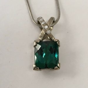 Shop Green Tourmaline Pendants! Original Cindy design – green tourmaline pendant in 14 karat white gold | Natural genuine Green Tourmaline pendants. Buy crystal jewelry, handmade handcrafted artisan jewelry for women.  Unique handmade gift ideas. #jewelry #beadedpendants #beadedjewelry #gift #shopping #handmadejewelry #fashion #style #product #pendants #affiliate #ad