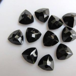 Shop Onyx Cabochons! 10 Pieces 10x10x5mm Each Black Onyx Faceted Trillion Shaped Loose Gemstones GDS866 | Natural genuine stones & crystals in various shapes & sizes. Buy raw cut, tumbled, or polished gemstones for making jewelry or crystal healing energy vibration raising reiki stones. #crystals #gemstones #crystalhealing #crystalsandgemstones #energyhealing #affiliate #ad