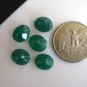 Shop Onyx Cabochons! 10 Pieces Oval Shaped Green Onyx Cabochons, Faceted Flat Back Gemstones Cabochon, Calibrated 9x10mm Each, BB236 | Natural genuine stones & crystals in various shapes & sizes. Buy raw cut, tumbled, or polished gemstones for making jewelry or crystal healing energy vibration raising reiki stones. #crystals #gemstones #crystalhealing #crystalsandgemstones #energyhealing #affiliate #ad