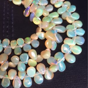Shop Opal Bead Shapes! Fiery ethiopian opal plain pear 6/8mm approx inch strand best price ever,opal beads | Natural genuine other-shape Opal beads for beading and jewelry making.  #jewelry #beads #beadedjewelry #diyjewelry #jewelrymaking #beadstore #beading #affiliate #ad