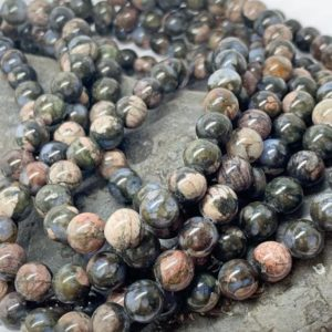 Shop Opal Bead Shapes! Glaucophane Gemstone beads Grey Lilac Opal 8mm or 6mm beads Healing Beads for Jewellery   Natural genuine other-shape Opal beads for beading and jewelry making.  #jewelry #beads #beadedjewelry #diyjewelry #jewelrymaking #beadstore #beading #affiliate #ad