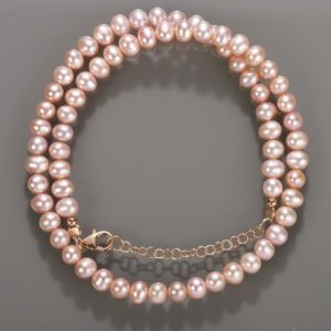 Shop Pearl Necklaces! Pink Pearl Necklace Blush Bridal Necklace One Single Strand Simple Pearl Necklace freshwater pearls pink beads necklace wedding jewelry. | Natural genuine Pearl necklaces. Buy handcrafted artisan wedding jewelry.  Unique handmade bridal jewelry gift ideas. #jewelry #beadednecklaces #gift #crystaljewelry #shopping #handmadejewelry #wedding #bridal #necklaces #affiliate #ad