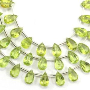Shop Peridot Bead Shapes! Stunning 1 Strand Natural Peridot Gemstone,31 Pieces Faceted Pear Shape Cut Stone Beads,Size 5×6-5×8 MM Peridot Cut Stone Making Jewelry | Natural genuine other-shape Peridot beads for beading and jewelry making.  #jewelry #beads #beadedjewelry #diyjewelry #jewelrymaking #beadstore #beading #affiliate #ad