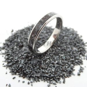 Shop Hematite Rings! Perfect Christmas Gift for Him! Personalized Hematite Ring with Stainless Steel, Custom Engraved Wedding / Engagement Ring, anniversary ring | Natural genuine Hematite rings, simple unique alternative gemstone engagement rings. #rings #jewelry #bridal #wedding #jewelryaccessories #engagementrings #weddingideas #affiliate #ad