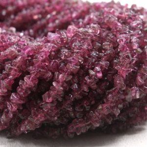 """Shop Pink Tourmaline Beads! 16"""" Long Natural Pink Tourmaline Chips Beads,Uncut Bead,Tourmaline Beads,4-5 MM,Jewelry Making,Polished Smooth Bead,Gemstone,Wholesale Price 