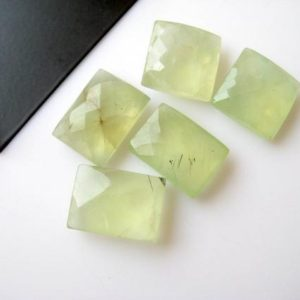 Shop Prehnite Cabochons! 10 Pieces 15x15mm Each Natural Prehnite Square Shaped Both Side Faceted Loose Gemstones BB28 | Natural genuine stones & crystals in various shapes & sizes. Buy raw cut, tumbled, or polished gemstones for making jewelry or crystal healing energy vibration raising reiki stones. #crystals #gemstones #crystalhealing #crystalsandgemstones #energyhealing #affiliate #ad