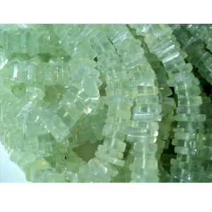 5-6mm Prehnite Square Heishi Beads, Prehnite Square Heishi, Prehnite Flat Heishi Beads For Jewelry (8IN To 16IN Strand Options) | Natural genuine other-shape Gemstone beads for beading and jewelry making.  #jewelry #beads #beadedjewelry #diyjewelry #jewelrymaking #beadstore #beading #affiliate #ad