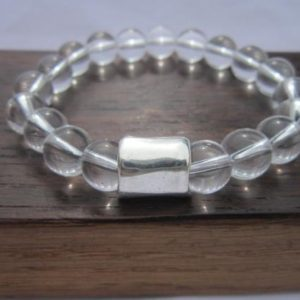 Shop Quartz Crystal Bracelets! Men Clear Quartz Bracelet, Men All Chakra Bracelet, Men Energy Bracelet, Men Healing Quartz Men Powerful Bracelet, Men Clear Quartz Bracelet | Natural genuine Quartz bracelets. Buy crystal jewelry, handmade handcrafted artisan jewelry for women.  Unique handmade gift ideas. #jewelry #beadedbracelets #beadedjewelry #gift #shopping #handmadejewelry #fashion #style #product #bracelets #affiliate #ad