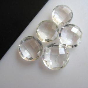 Shop Quartz Cabochons! 10 Pieces 11mm Each Round Shaped Natural Quartz Crystal Cabochons Briolettes Both Side Faceted Loose Gemstones, BB103   Natural genuine stones & crystals in various shapes & sizes. Buy raw cut, tumbled, or polished gemstones for making jewelry or crystal healing energy vibration raising reiki stones. #crystals #gemstones #crystalhealing #crystalsandgemstones #energyhealing #affiliate #ad