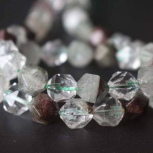 Shop Quartz Crystal Beads! Natural Garden Quartz Faceted Star Cut Nugget Beads,6mm/8mm/10mm/12mm Quartz Beads Bulk Suppply,15 inches one starand | Natural genuine beads Quartz beads for beading and jewelry making.  #jewelry #beads #beadedjewelry #diyjewelry #jewelrymaking #beadstore #beading #affiliate #ad