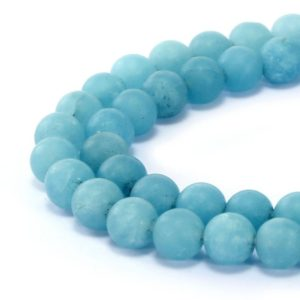 "Shop Quartz Crystal Round Beads! Blue Sponge Quartz Matte Round 6mm 8mm 10mm 15.5"" Strand 