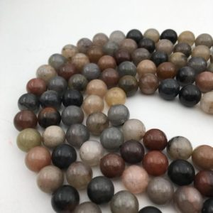 "Shop Quartz Crystal Round Beads! Multi-Color Quartz Smooth Round Beads 8mm 10mm 15.5"" Strand 