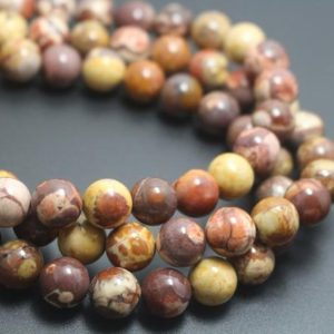6mm/8mm/10mm/12mm Birdeye Rhyolite Beads,Natural Smooth and Round Stone Beads,15 inches one starand | Natural genuine beads Rainforest Jasper beads for beading and jewelry making.  #jewelry #beads #beadedjewelry #diyjewelry #jewelrymaking #beadstore #beading #affiliate #ad