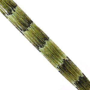 "Shop Green Tourmaline Beads! Rare AAA+ Green Tourmaline Gemstone 2mm-3mm Faceted Loose Beads | 13"" Strand 