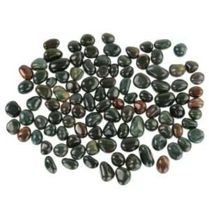"Shop Tumbled Bloodstone Crystals & Pocket Stones! Real Polished Bloodstone .5-1"" Green Tumbled Stones 