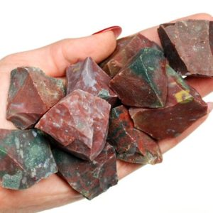 Shop Bloodstone Stones & Crystals! Rough Jasper Bloodstone Stone, Heliotrope Raw Stones, Healing Heliotrope Crystals, LadiesCrystals, Ladies Crystals, Heliotrope Rough Stones | Natural genuine stones & crystals in various shapes & sizes. Buy raw cut, tumbled, or polished gemstones for making jewelry or crystal healing energy vibration raising reiki stones. #crystals #gemstones #crystalhealing #crystalsandgemstones #energyhealing #affiliate #ad